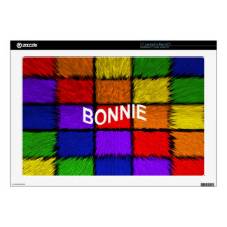 """BONNIE ( female names ) Decal For 17"""" Laptop"""
