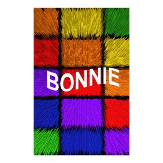 BONNIE ( female names ) Stationery