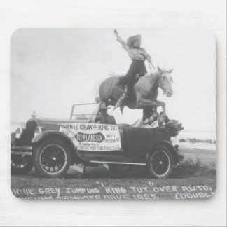 Bonnie Gray jumping her horse. Mouse Pad
