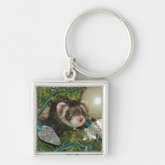 Bonnie in the Tree Christmas Ornament Keychain