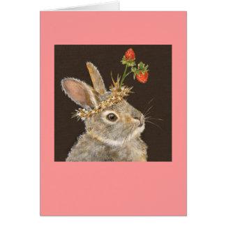 Bonnie la tarjeta del conejito del bebé