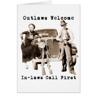 Bonnie Parker & Clyde Barrow Card