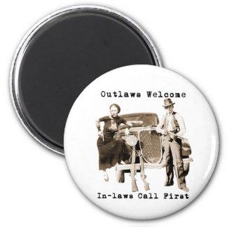 Bonnie Parker & Clyde Barrow Magnet