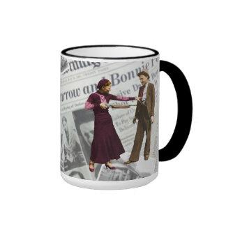 Bonnie Parker y carretilla de Clyde Taza De Dos Colores