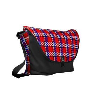 Bonnie Red Tartan Courier Bag