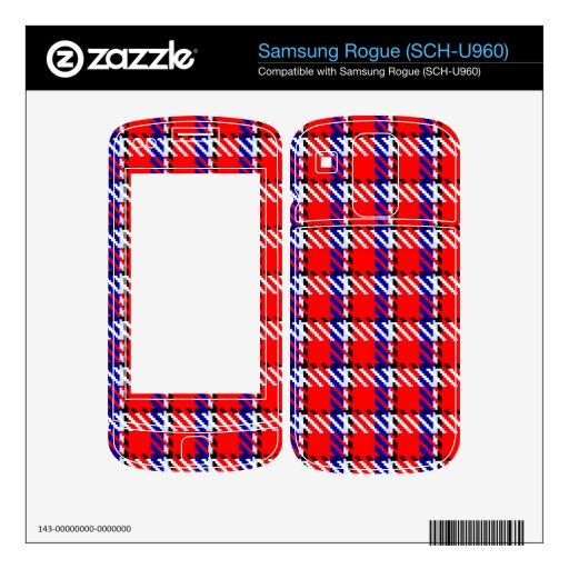 Bonnie Red Tartan Samsung Rogue Decal