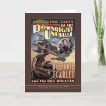 Bonnie Scarlet & the Sky Pirates Greeting Card