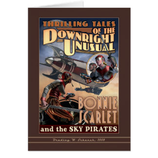 Bonnie Scarlet & the Sky Pirates Greeting Card