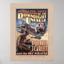 "Bonnie Scarlet & the Sky Pirates Poster (18x24"")"