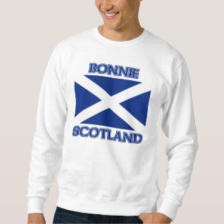 Bonnie Scotland and Saltire flag Pullover Sweatshirt