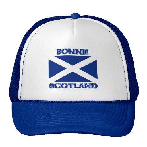 Bonnie Scotland and Saltire flag Trucker Hats
