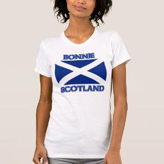 Bonnie Scotland and Saltire flag T-shirt