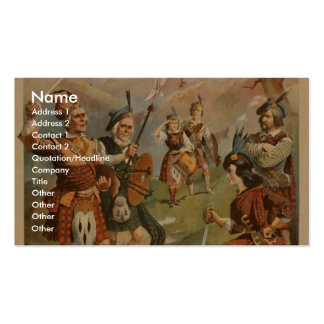 Bonnie Scotland,  'Arrival of the Regiments' Double-Sided Standard Business Cards (Pack Of 100)