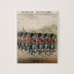 Bonnie Scotland Bagpipers Jigsaw Puzzle