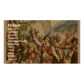 Bonnie Scotland Double-Sided Standard Business Cards (Pack Of 100)