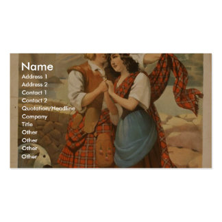 Bonnie Scotland, 'Come Under my Plaidie' Retro The Double-Sided Standard Business Cards (Pack Of 100)