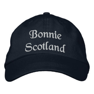 Bonnie Scotland hat - a quality Scottish souvenir Embroidered Hats
