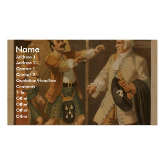 Bonnie Scotland,  'Humphrey Accuses Buchanan' Double-Sided Standard Business Cards (Pack Of 100)