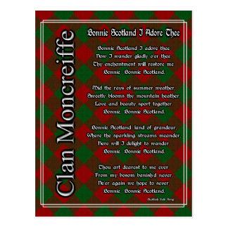 Bonnie Scotland I Adore Thee Moncreiffe Tartan Postcard