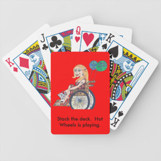 Bonnie soars on these... bicycle playing cards