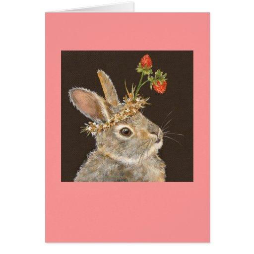 Bonnie the baby bunny card