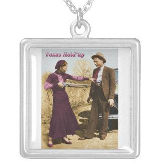 Bonnie y Clyde Colgante Cuadrado