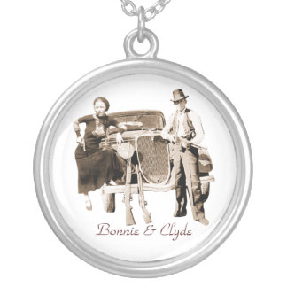 Bonnie y Clyde Colgante Redondo