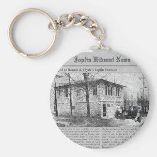 Bonnie y guarida de Joplin de Clyde Llaveros Personalizados