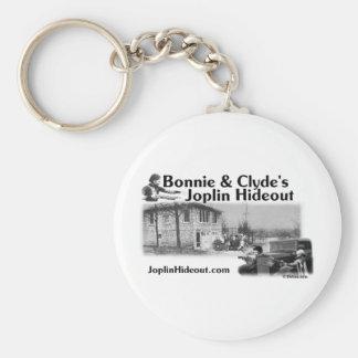 Bonnie y guarida de Joplin de Clyde Llavero Redondo Tipo Pin
