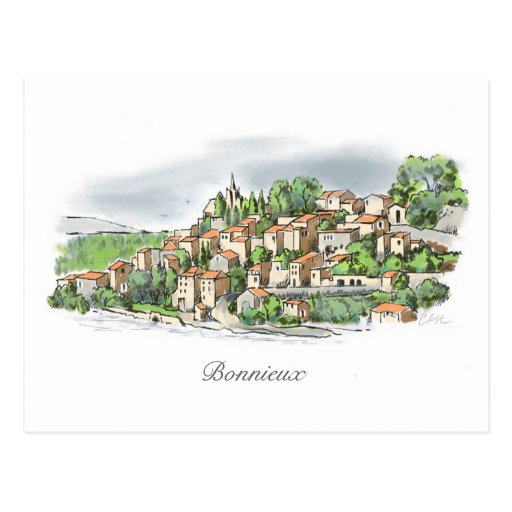 Bonnieux post card