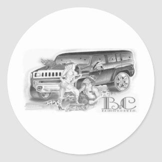 Bonny n Clyde Classic Round Sticker