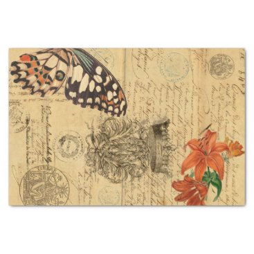 Roycycled Bono Butterfly Decoupage Tissue Paper