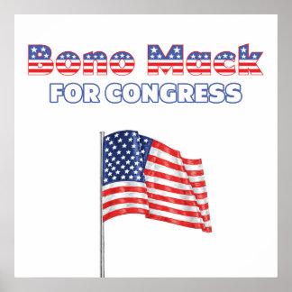Bono Mack para la bandera americana patriótica del Impresiones