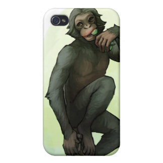 Bonobo Eating Fruit iPhone case