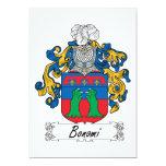 Bonomi Family Crest Personalized Announcements