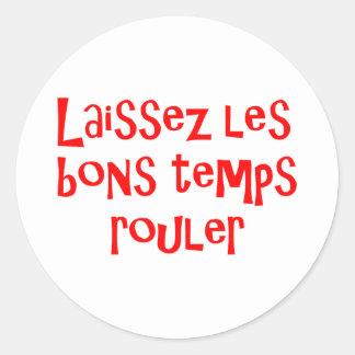 Bons temps classic round sticker
