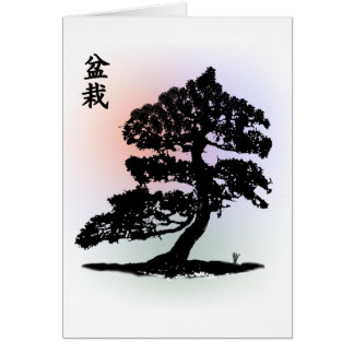 bonsai 01 greeting cards