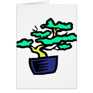 Bonsai Abstract Blue Pot Graphic Image Card