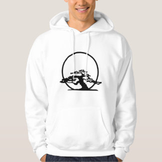 Bonsai against sun outline image graphic design hoodie
