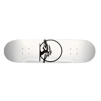 Bonsai against sun outline image graphic design skate board