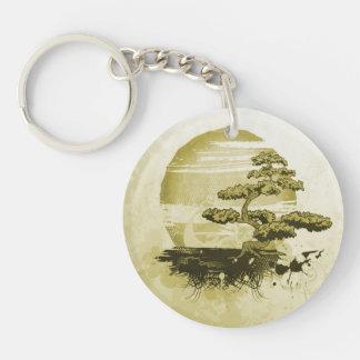 Bonsai and Sun Keychain
