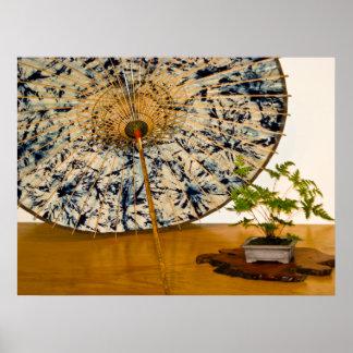Bonsai and Umbrella at National Arboretum, D.C. Poster
