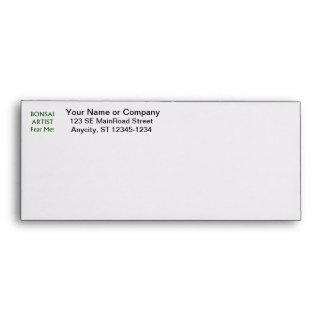 Bonsai Artist Fear me Green Text Envelope