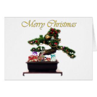 Bonsai Christmas Tree Greeting Cards