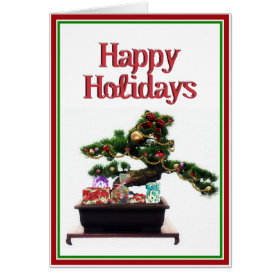 Bonsai Christmas Tree Card