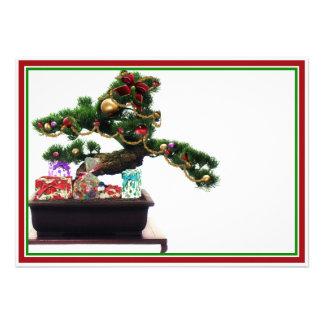 Bonsai Christmas Tree Personalized Invite