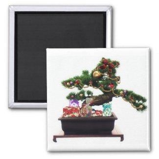 Bonsai Christmas Tree Magnet