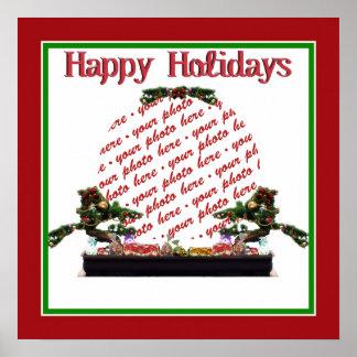 Bonsai Christmas Tree Photo Frame Poster