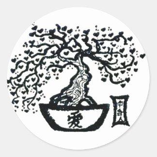 Bonsai Classic Round Sticker