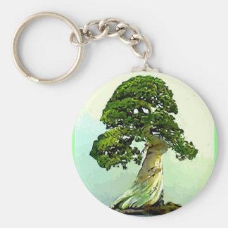 Bonsai Cypress Tree Basic Round Button Keychain